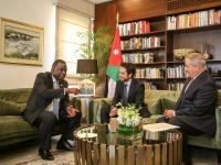 سمو الأمير الحسين بن عبدالله الثاني، ولي العهد، يلتقي عدداً من كبار الشخصيات المشاركة في المنتدى العالمي للشباب والسلام والأمن