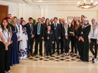 Crown Prince meets young Jordanian achievers at WEF