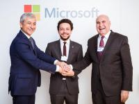 Crown Prince witnesses signing of MoU with Microsoft to develop Jordan's ICT sector