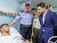 ولي العهد يعود مصابي الأمن العام وقوات الدرك في مدينة الحسين الطبية