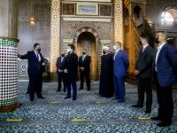 Crown Prince checks on Al Husseini Mosque renovation project