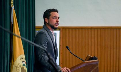 Crown Prince visits Al Hussein bin Talal University, addresses students