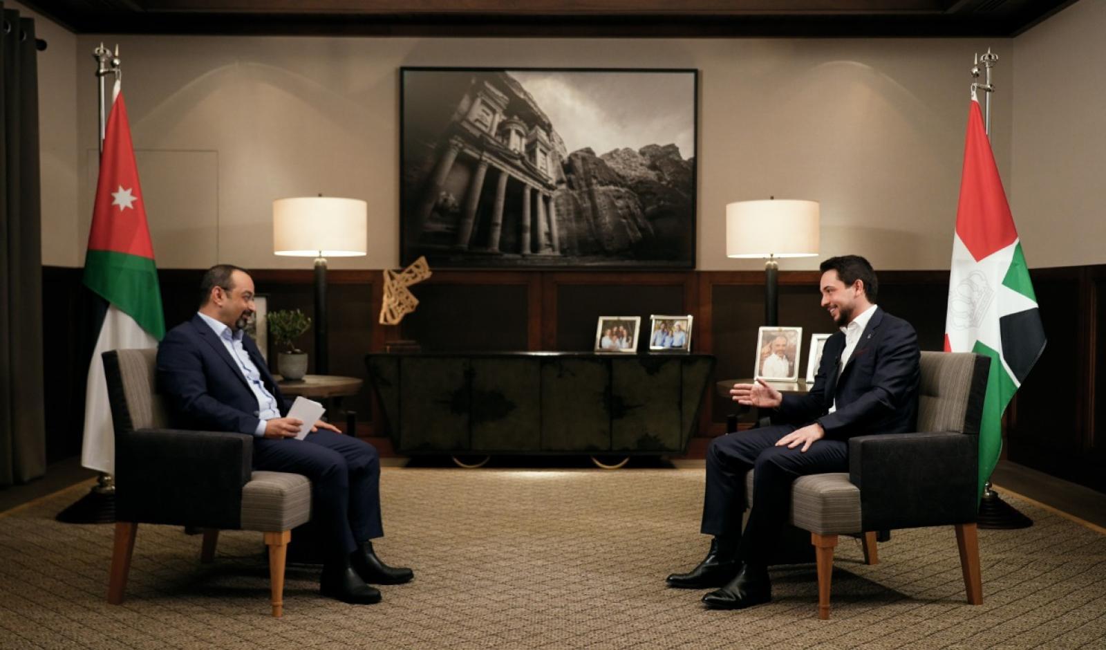 ولي العهد يجري لقاءً مع التلفزيون الأردني