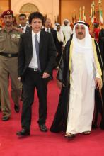 H.R.H Crown Prince Al Hussein Bin Abdullah with Shiekh Sabah Al-Ahmad Al-Jaber Al-Sabah