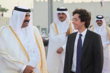 HRH Crown Prince Al Hussein Bin Abdullah II with Emir of Qatar Sheikh Hamad Bin Khalifa Al-Thani