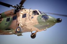 H.R.H Crown Prince Al Hussein Bin Abdullah flies a military chopper