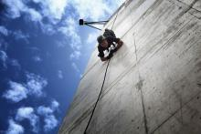 H.R.H. Crown Prince Al Hussein bin Abdullah II participates in a military exercise –Tactical Rappelling Summer 2013