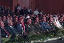 His Majesty King Abdullah II, accompanied by HRH Crown Prince, attends the Arab Army's celebration of Army Day and the Anniversary of Great Arab Revolt