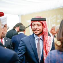 سمو الأمير الحسين بن عبدالله الثاني، ولي العهد، خلال الاحتفال بعيد الاستقلال الـ 69 - أيار 2015