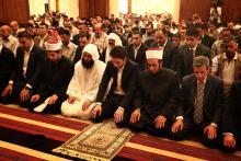 H.R.H. Crown Prince Al Hussein Bin Abdullah II during Friday prayers 2013