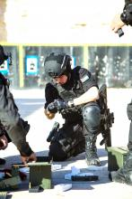 H.R.H Crown Prince Al Hussein Bin Abdullah at a military activity