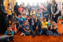 HRH Crown Prince Al Hussein Bin Abdullah II, the Regent, visits Omar Bin Al Khattab Charitable Society in Zarqa
