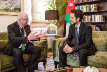 HRH Crown Prince Al Hussein Bin Abdullah II during several meetings on the sidelines of the Global Forum on Youth, Peace and Security