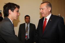 سمو الأمير الحسين بن عبدالله الثاني، ولي العهد، خلال لقاء مع رئيس الوزراء التركي رجب طيب أردوغان