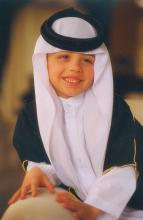 سمو الأمير الحسين بن عبدالله الثاني ولي العهد، في ريعان الطفولة