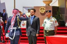 Deputizing for His Majesty, HRH Crown Prince ِAl Hussein bin Abdullah II attends the graduation ceremony of Mutah University's Military Wing