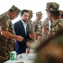 HRH Crown Prince Al Hussein Bin Abdullah during a visit to the 39th Jafar bin Abi Taleb Mechanised Battalion - November 2017