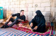 HRH Crown Prince Al Hussein bin Abdullah II pays a surprise visit to Rahmeh village in Wadi Araba, Aqaba Governorate, and checks on a family there