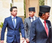 مراسم استقبال رسمية لجلالة السلطان حاج حسن البلقية، سلطان بروناي دار السلام، في قصر الحسينية