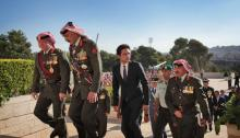 His Majesty King Abdullah II and HRH Crown Prince Al Hussein Bin Abdullah attending the Great Arab Revolt and Army Day Anniversary Celebrations