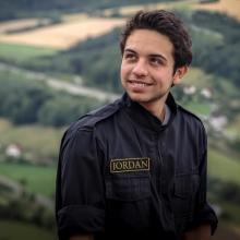 Crown Prince Al Hussein Bin Abdullah II participates takes a break from in a military exercises, 2013