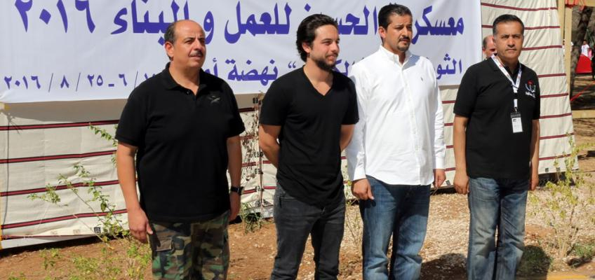 Crown Prince checks on activities of Al Hussein Youth Camps