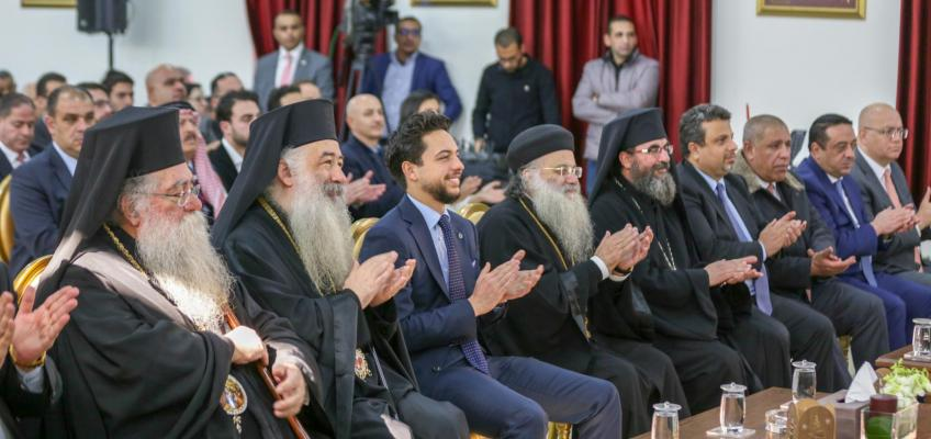 Regent attends Christmas celebration at Jerash monastery