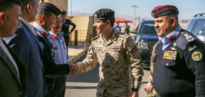 نائب جلالة الملك يزور مديرية شرطة محافظة العقبة
