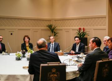 HRH Crown Prince Hussein chairs a meeting of the board of trustees of the newly established Crown Prince Foundation