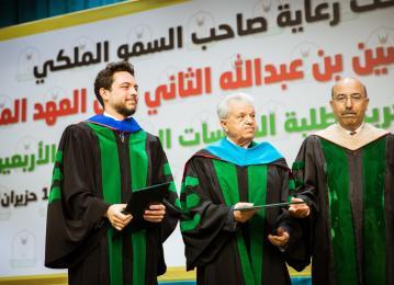 ولي العهد يرعى تخريج طلبة برامج الدراسات العليا بجامعة اليرموك